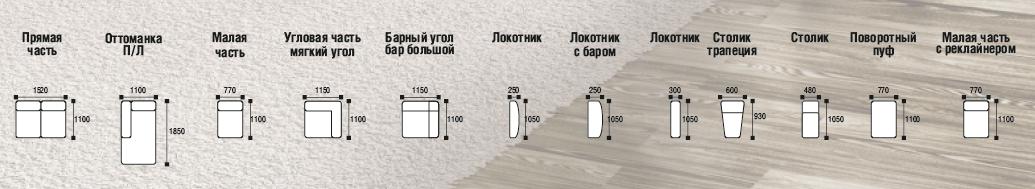схема модульный диван Берлин 2