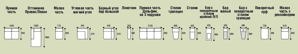 схема модульная система диван Висмут